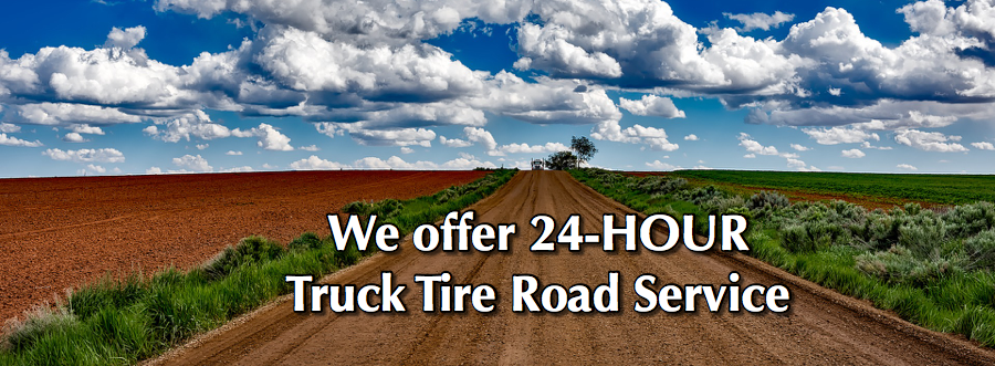 We offer 24 HR truck tire road service