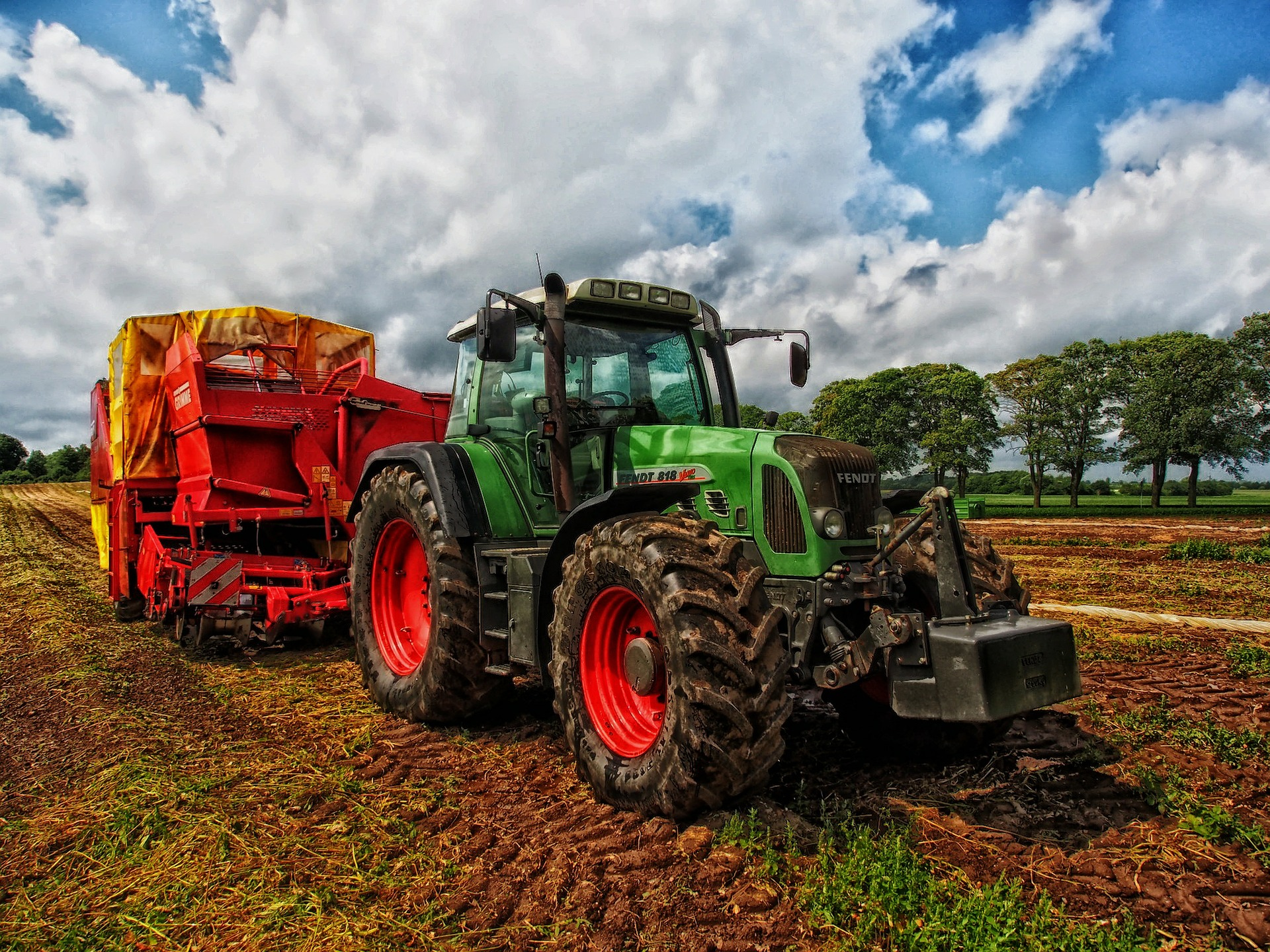 farm tractor with huge tires